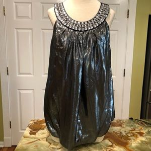 INC Metallic Top with Clear Stones.